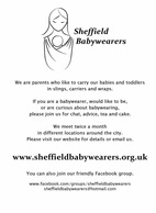 Click on this image to download an A4 poster for Sheffield Babywearers